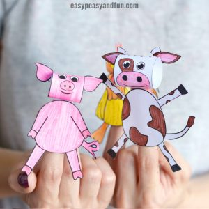 Printable Farm Animals Finger Puppets