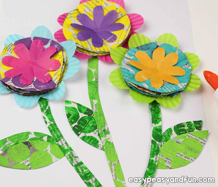 Recycled Flower Craft
