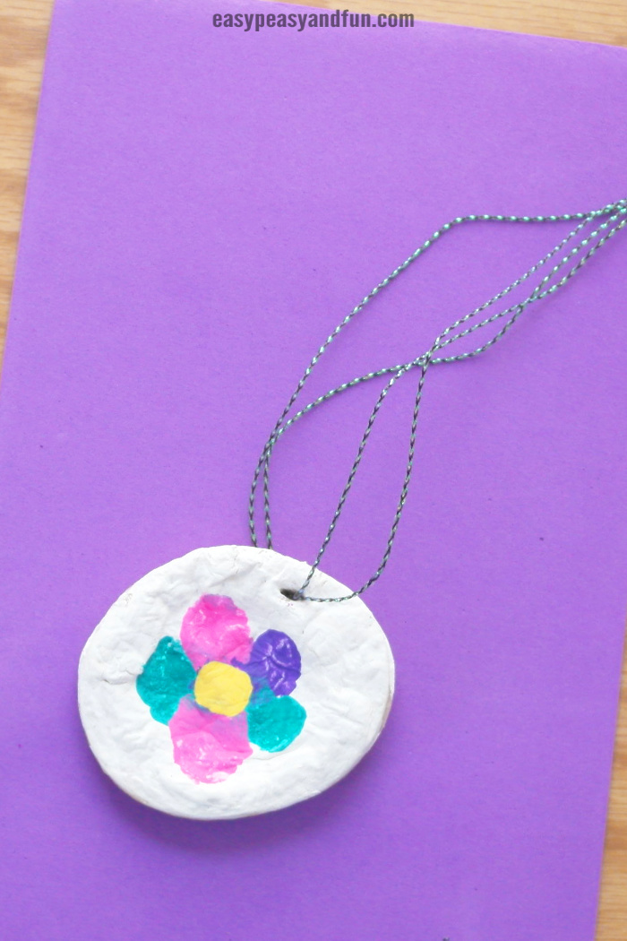 Salt Dough Necklace Craft Idea for Kids