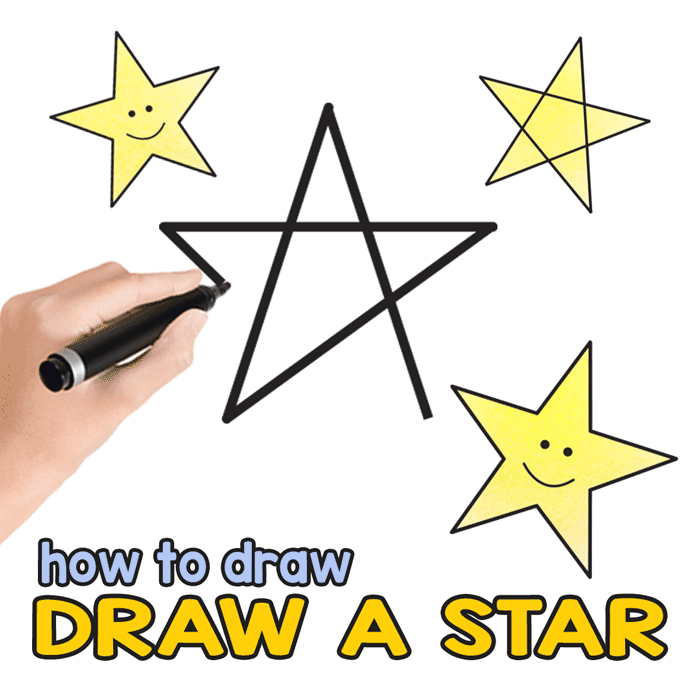 Star Directed Drawing - Learn how to draw a perfect star in no time