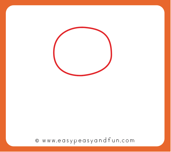 Start by Drawing an Oval Shape for the Head