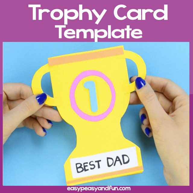 Fathers day trophy card.
