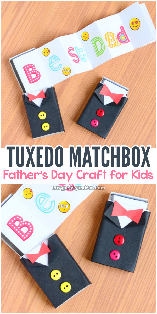 Tuxedo Matchbox Craft Father S Day Craft For Kids Easy Peasy And Fun