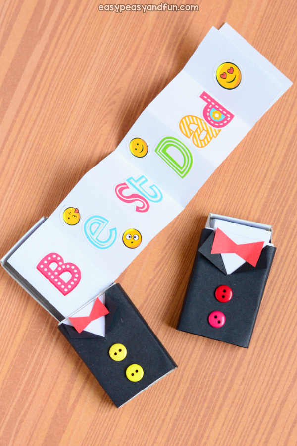 Tuxedo Matchbox Craft for Kids
