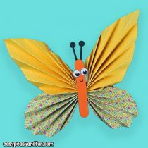 Colorful Paper Butterfly Craft