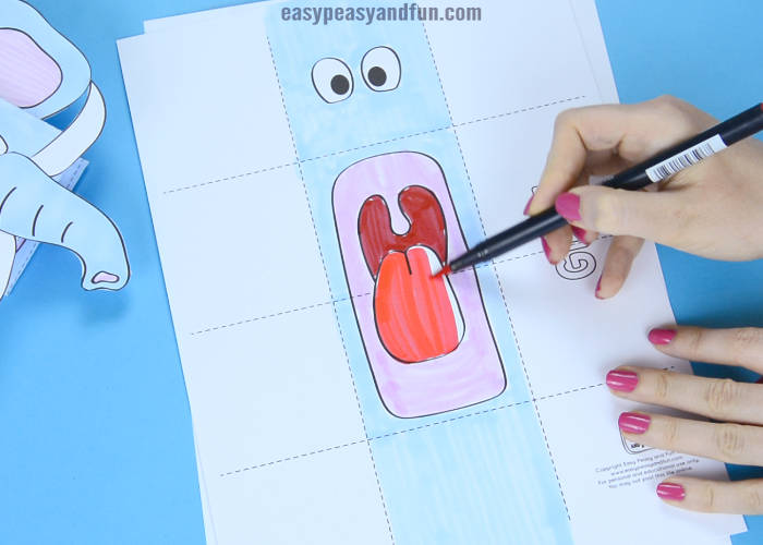 Elephant Puppet Printable Template Easy Peasy And Fun