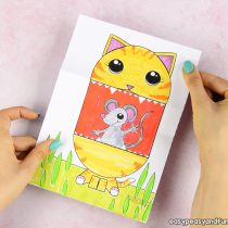 Surprise Big Mouth Cat Printable