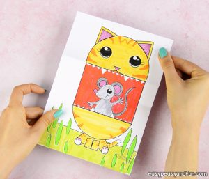Cat Crafts For Kids Archives Easy Peasy And Fun Rh Easypeasyandfun Com Printable Pig Craft Template