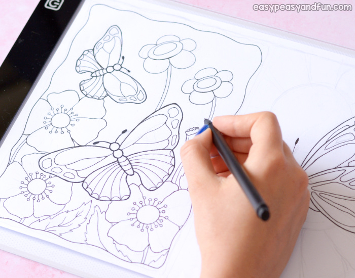 butterfly coloring pages free printable from cute to realistic