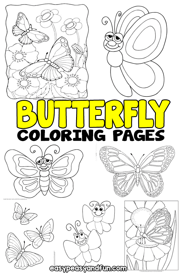 Butterfly Coloring Pages - Free Printable - From Cute To Realistic  Butterflies - Easy Peasy And Fun