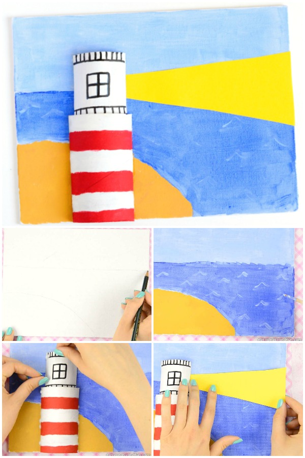 Canvas Lighthouse Art for Kids