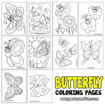 Butterfly Coloring Pages – Free Printable – from Cute to Realistic Butterflies