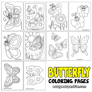 Cute and Realistic Butterfly Coloring Pages