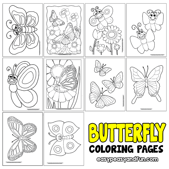 Butterfly Coloring Pages - Free Printable - from Cute to Realistic ...