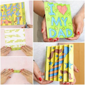 Father's Day Agamograph Craft for Kids