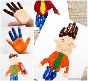 Father's Day Handprint Art