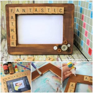 Father's Day Scrabble Tile Frame