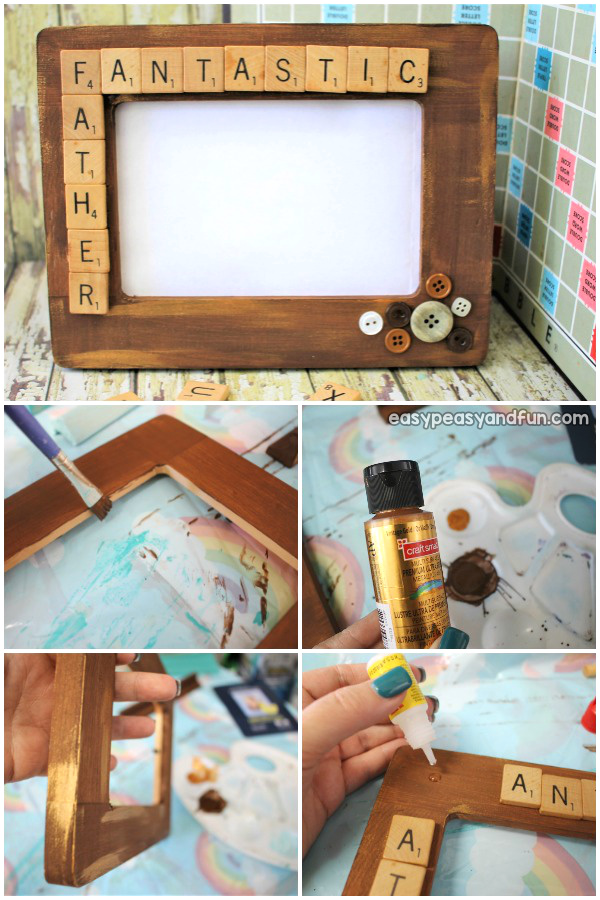 Simple and useful kid made father's day gift idea. Make a DIY Father's day photo frame.