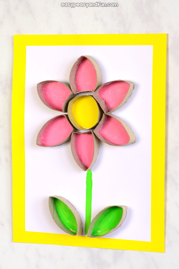 Flower Toilet Paper Roll Craft Easy Peasy And Fun