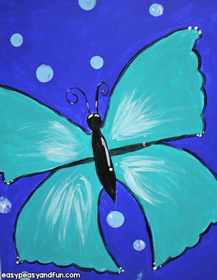 Painting a butterfly