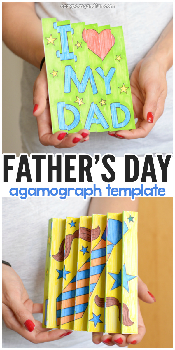 Printable Father's Day Agamograph Template for Kids