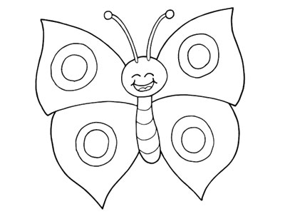 Smiley the butterfly