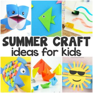 Summer craft ideas for kids.