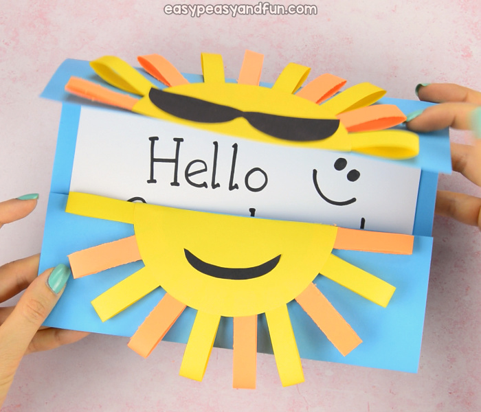 Sun DIY Paper Card Craft