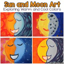 Sun and Moon Painting – Art Lesson With Warm and Cool Colors