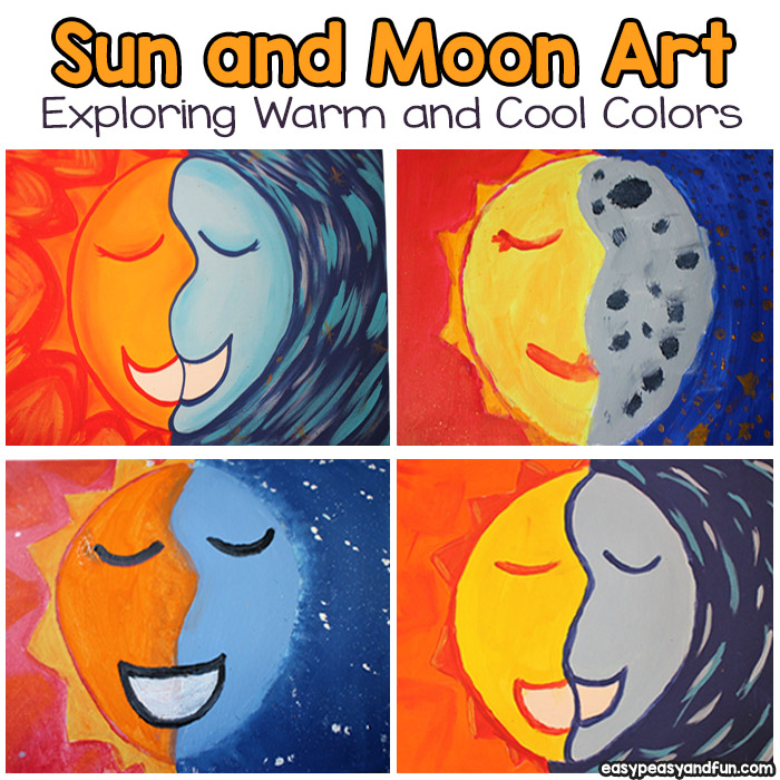 Sun and Moon Art Project for Kids