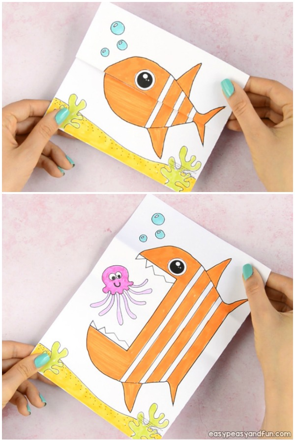 graphic regarding Printable Crafts for Kids named Ponder Significant Mouth Fish Printable - Very simple Peasy and Pleasurable