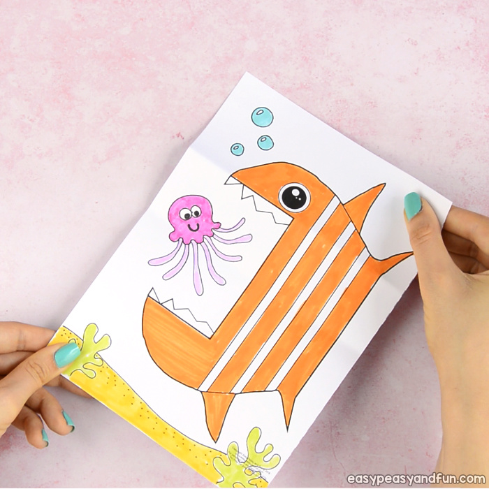 Surprise Big Mouth Fish Printable Template Craft