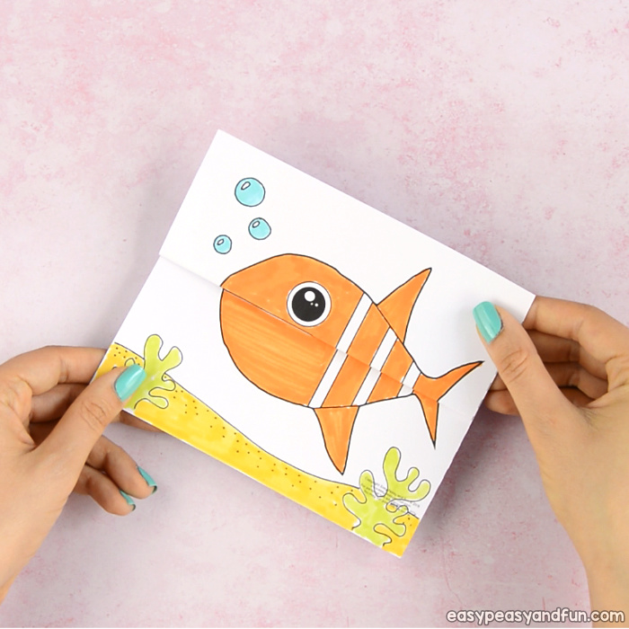 Surprise Big Mouth Fish Printable Template