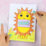 Surprise Big Mouth Lion Printable Craft