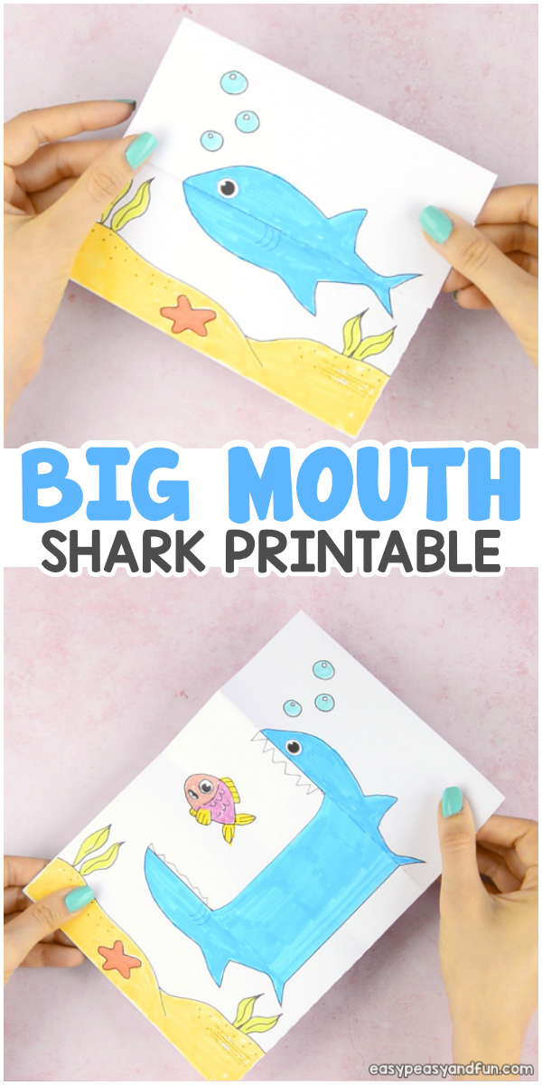 Surprise Big Mouth Shark Printable Craft for Kids