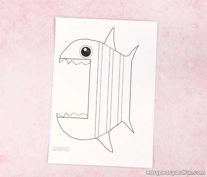 fish mouth template - surprise big mouth fish printable easy peasy and fun