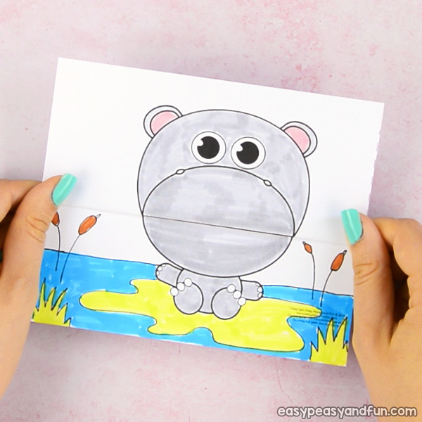 Big Mouth Hippo Printable