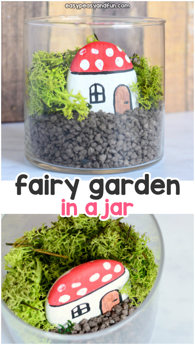 DIY Fairy Garden in a Jar Craft Idea for Kids