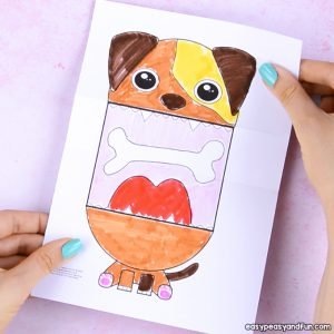 Surprise Big Mouth Dog Printable Template