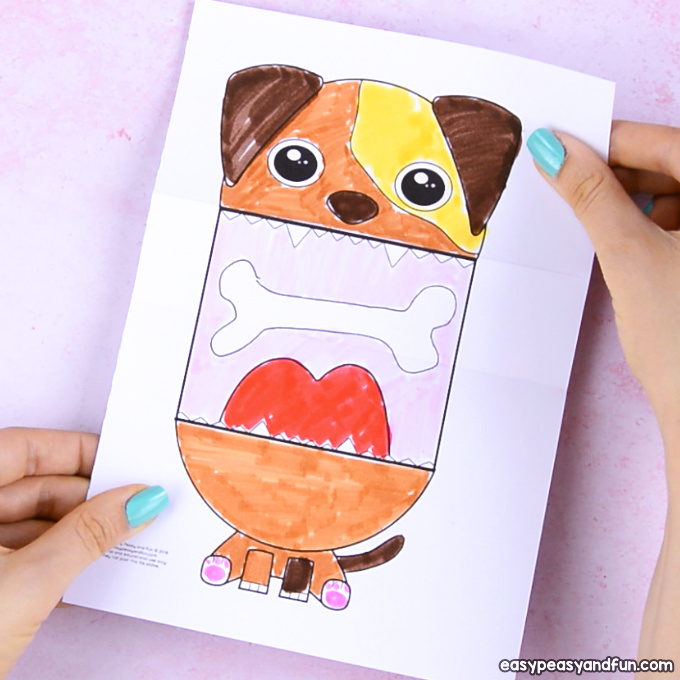 Surprise Big Mouth Dog Printable Easy Peasy And Fun