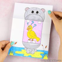 graphic regarding Printable Crafts for Kids named Animal Crafts for Young children - Very simple Peasy and Enjoyment
