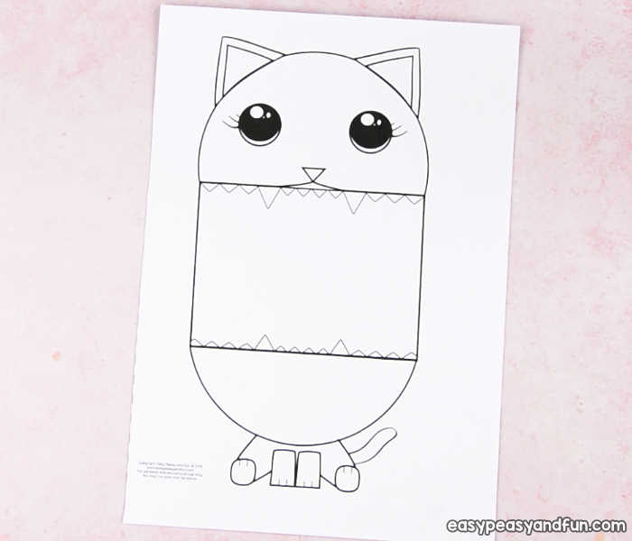Surprise Big Mouth Cat Printable Easy Peasy And Fun