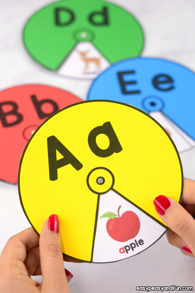 Alphabet Spinners Printable Alphabet Learning Activity