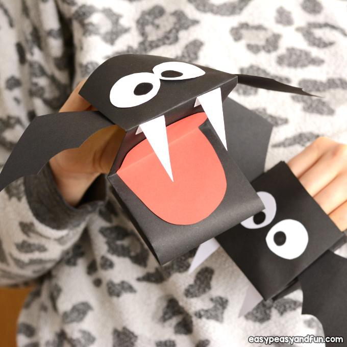 image regarding Printable Bat identified as Bat Puppet Printable Template - Straightforward Peasy and Entertaining