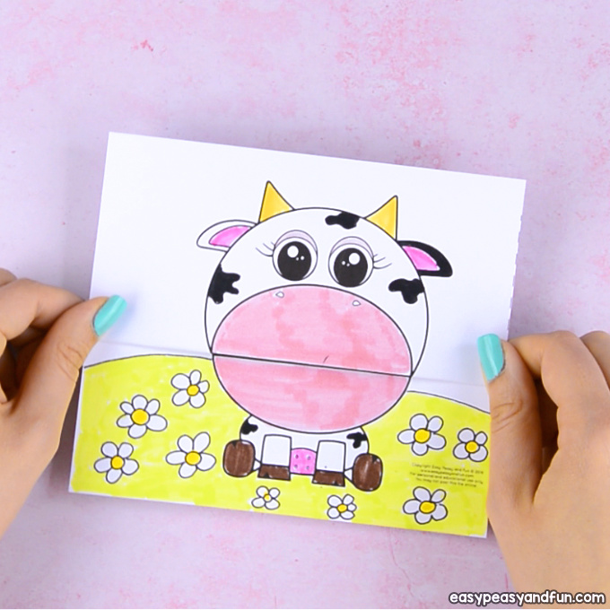 Big Mouth Cow Printable
