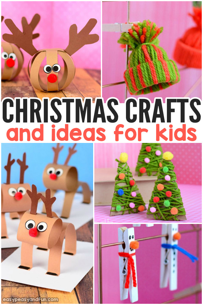 Kids Christmas.Festive Christmas Crafts For Kids Tons Of Art And Crafting