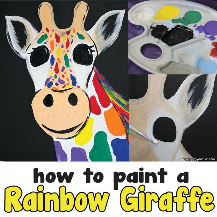 How to Paint a Rainbow Giraffe