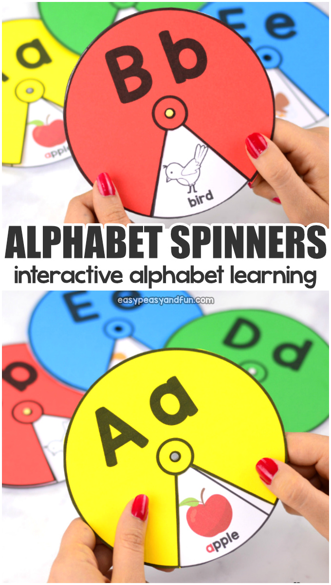 Printable Alphabet Spinners Easy