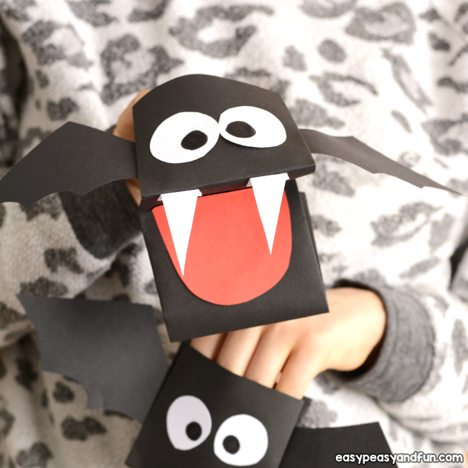 Printable Bat Hand Puppet
