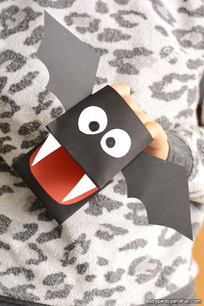 Printable Bat Puppet Paper Craft for Kids